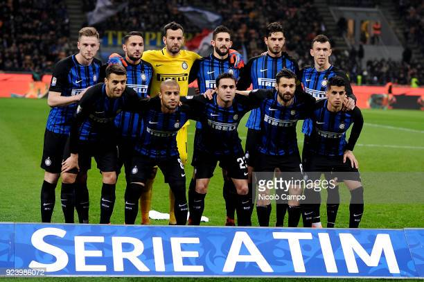 Players of FC Internazionale pose for a team photo prior to the Serie A football match between FC Internazionale and Benevento Calcio FC...