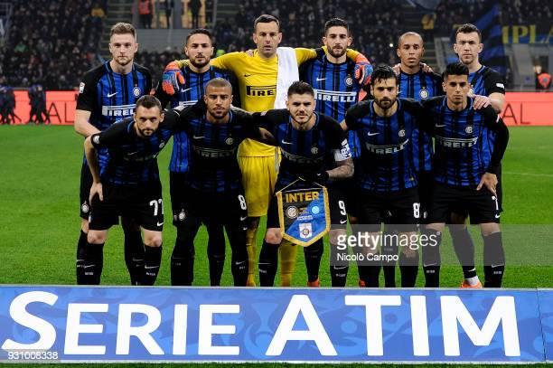 Players of FC Internazionale pose for a team photo prior to the Serie A football match between FC Internazionale and SSC Napoli The match ended in a...