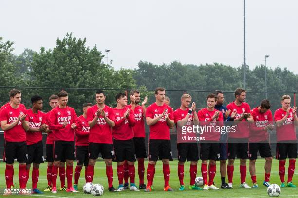 players of FC Twente applause for the supportersduring a training session at Trainingscentrum Hengelo on June 24 2017 in Hengelo The Netherlands