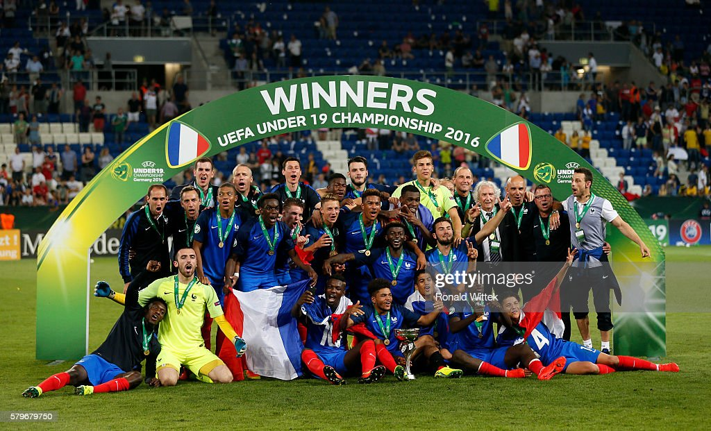 U19 France v U19 Italy - UEFA Under19 European Championship Final : News Photo