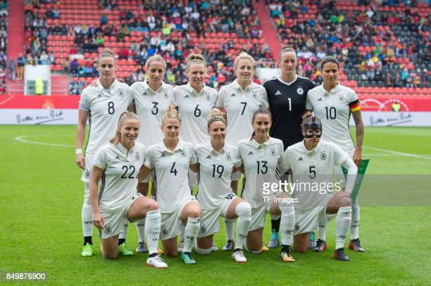 Players of Germany are seen during the 2019 FIFA women's World Championship qualifier match between Germany and Slovenia at Audi Sportpark on...