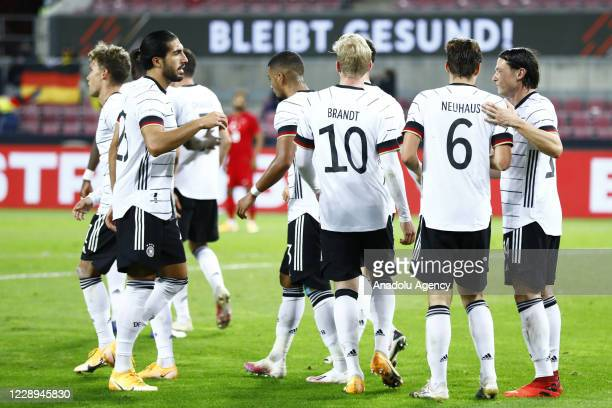 Players of Germany celebrate after a scoring a goal during a friendly match between Germany and Turkey at Rhein Energie Stadium in Cologne, Germany...