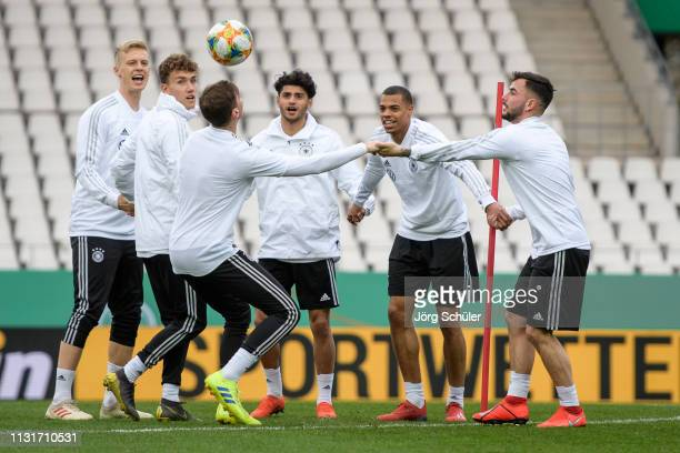 Players of Germany during the U21 training session of Germany at Stadion Essen on March 20, 2019 in Essen, Germany.