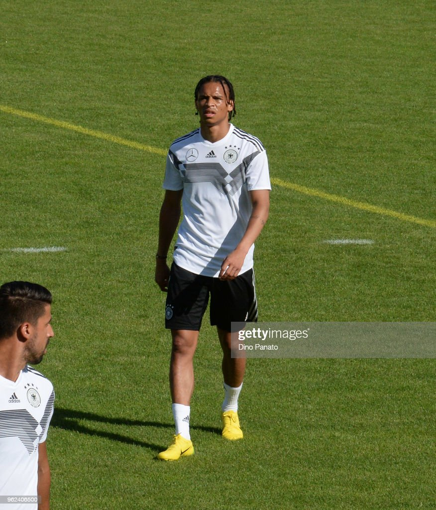 Players of Germany in action during training sechtion during the Southern Tyrol Training Camp day three at on May 25, 2018 in Bolzano, Italy.