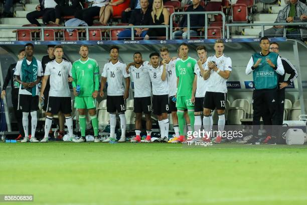 Players of Germany looks on during the UEFA U21 Final match between Germany and Spain at Krakow Stadium on June 30 2017 in Krakow Poland
