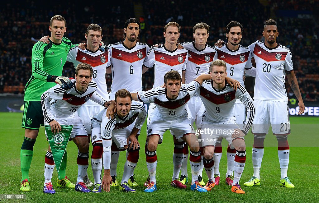 Players of Germany pose during the International Friendly match between Italy and Germany at San Siro Stadium on November 15, 2013 in Milan, Italy.