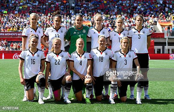 Players of Germany pose for a picture during the FIFA Women's World Cup 2015 Round of 16 match between Germany and Sweden at Lansdowne Stadium on...