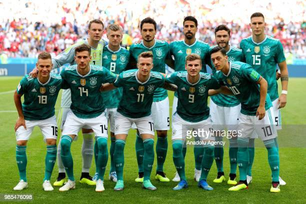 Players of Germany pose for a team photo ahead of the 2018 FIFA World Cup Russia Group F match between Korea Republic and Germany at the Kazan Arena...