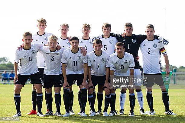 Players of Germany pose for a team photo before the U18 international friendly match between Ireland and Germany on November 13 2016 in Salou Spain
