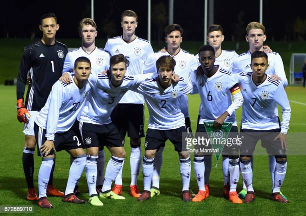 Players of Germany pose for a team photo during the International Match between Germany U17 and Portugal U17 at St Georges Park on November 11 2017...