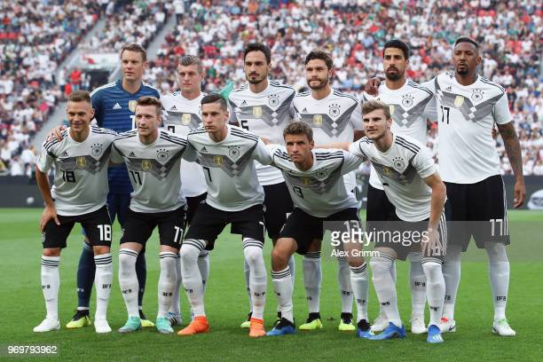 Players of Germany pose for a team photo prior to the international friendly match between Germany and Saudi Arabia ahead of the FIFA World Cup...