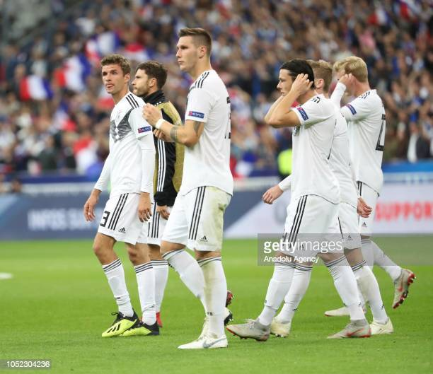 Players of Germany react after the UEFA Nations League A Group 1 match between France and Germany at Stade de France in SaintDenis north of Paris...