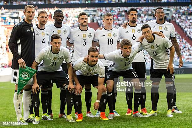 Players of GermanyÕs national football team poste for a team photo prior to the international friendly match between Germany and Hungary at...