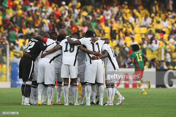 Players of Ghana during the CAf African Cup of Nations Semimfinals match between Ghana and Cameroon in Accra Ghana