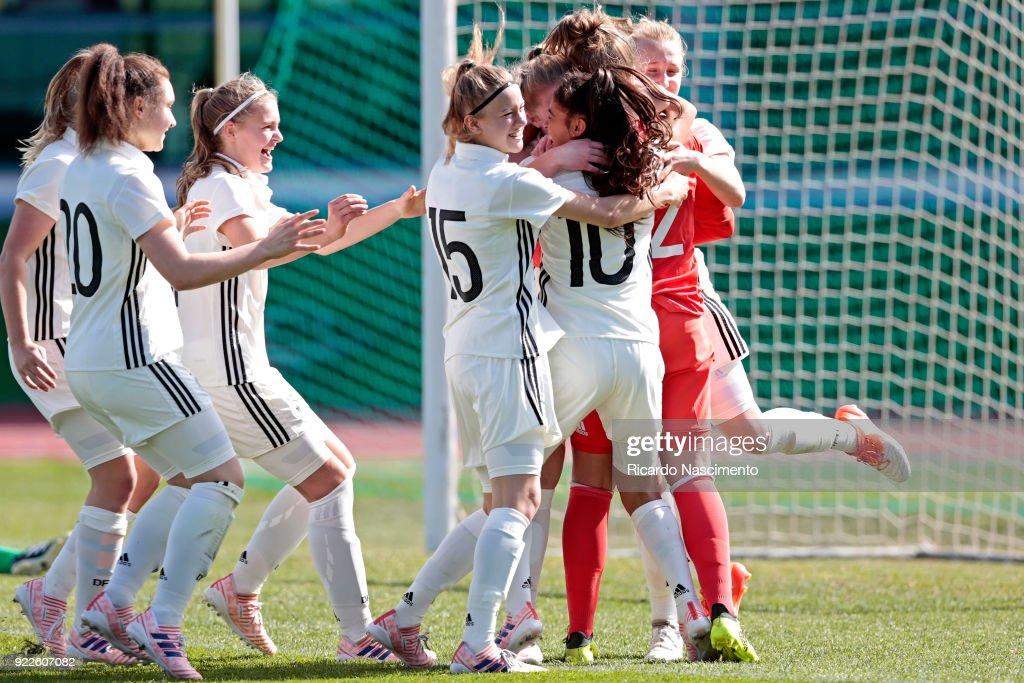 U16 Girl's Germany v U16 Girl's Italy - UEFA Development Tournament : News Photo