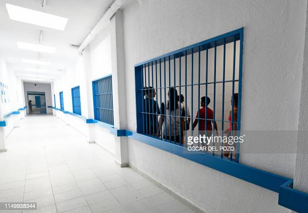 Players of 'Goals For Freedom' women football team leave the Picassent jail in Valencia province after playing a football match against a team of...