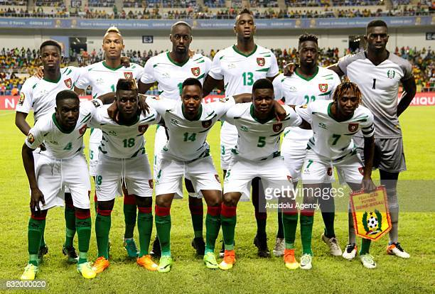 Players of Guinea Bissau pose for a photo ahead of the Africa Cup of Nations 2017 Group A match between Cameroon and Guinea Bissau at the De l'Amitie...