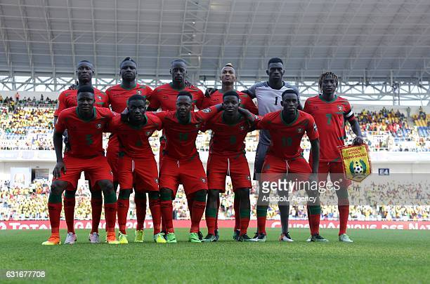 Players of GuineaBissau national football team pose for a photo ahead of the Africa Cup of Nations 2017 match between Gabon and GuineaBissau at the...