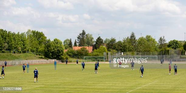Players of Hamburger SV are seen during the training session of Hamburger SV on May 15 2020 in Herzogenaurach Germany