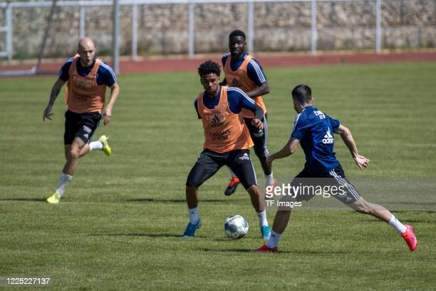 Players of Hamburger SV are seen during the training session of Hamburger SV on May 16 2020 in Herzogenaurach Germany