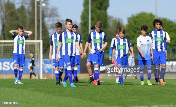 players of Hertha BSC U14 after the game of the 3rd place during the Nike Premier Cup 2017 on may 7 2017 in Berlin Germany