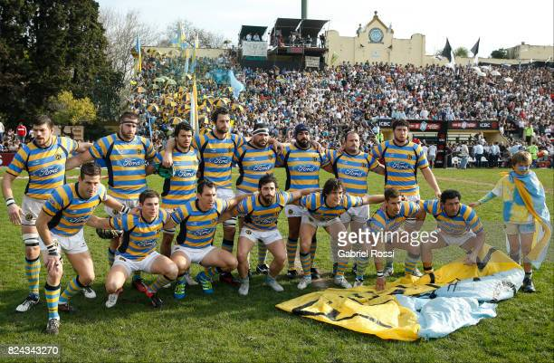 Players of Hindu Club pose for a photo prior a match between Hindu Club and Tala Rugby Club as part of Nacional de Clubes 2017 Final at Club Atletico...