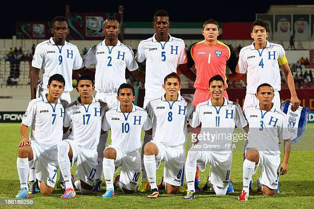 Players of Honduras pose for a team photo prior to the FIFA U17 World Cup UAE 2013 Round of 16 match between Honduras and Uzbekistan at Sharjah...