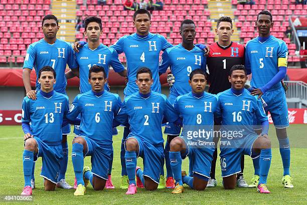 Players of Honduras pose for a team photo prior to the FIFA U17 World Cup Chile 2015 Group D match between Mali and Honduras at Estadio Nelson...