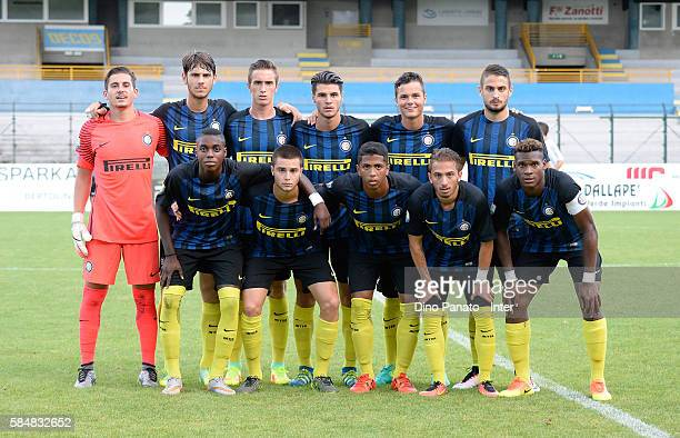 Players of Internazionale Juvenile during the match between AC Trento and FC Internazionale Juvenile at stadio Briamasco on July 31 2016 in Trento...