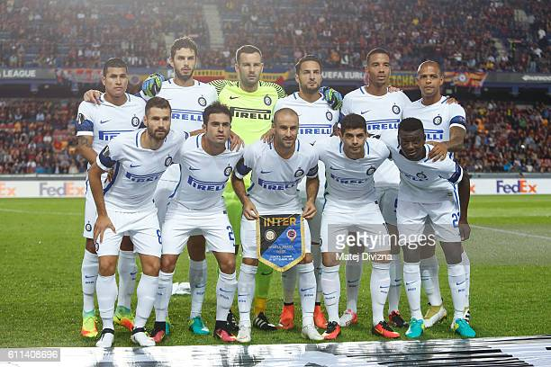 Players of Internazionale Milano pose before the UEFA Europa League match between AC Sparta Praha and FC Internazionale Milano at Generali Arena...