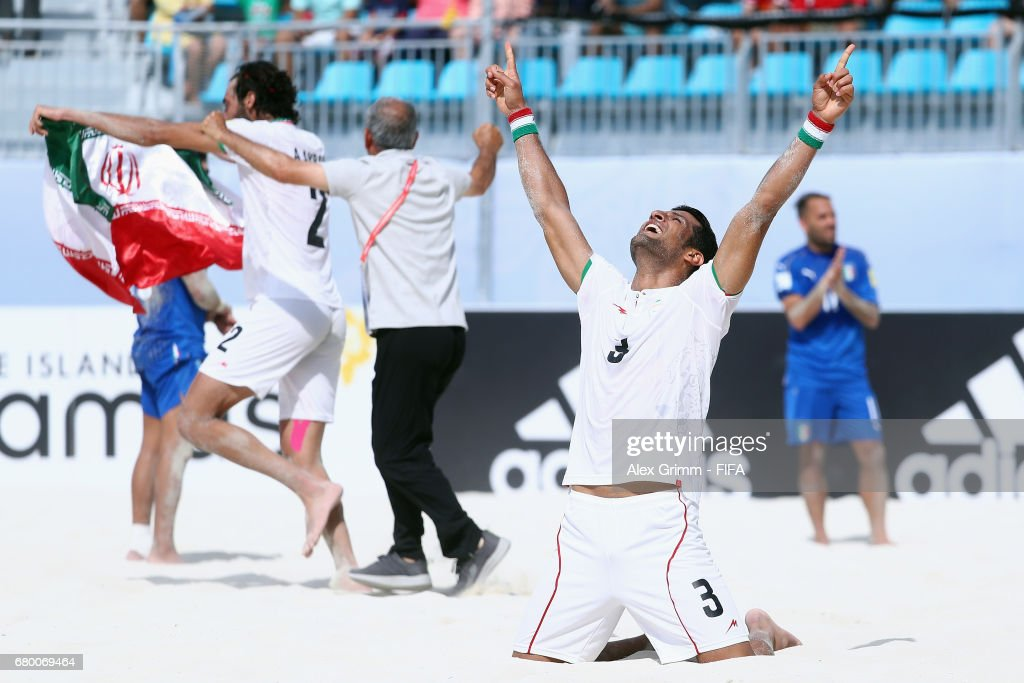 Iran v Italy - FIFA Beach Soccer World Cup Bahamas 2017 : News Photo