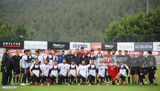 Players of Iran national football team pose for a photo during the team's training session ahead of a friendly football match between Turkey and Iran...