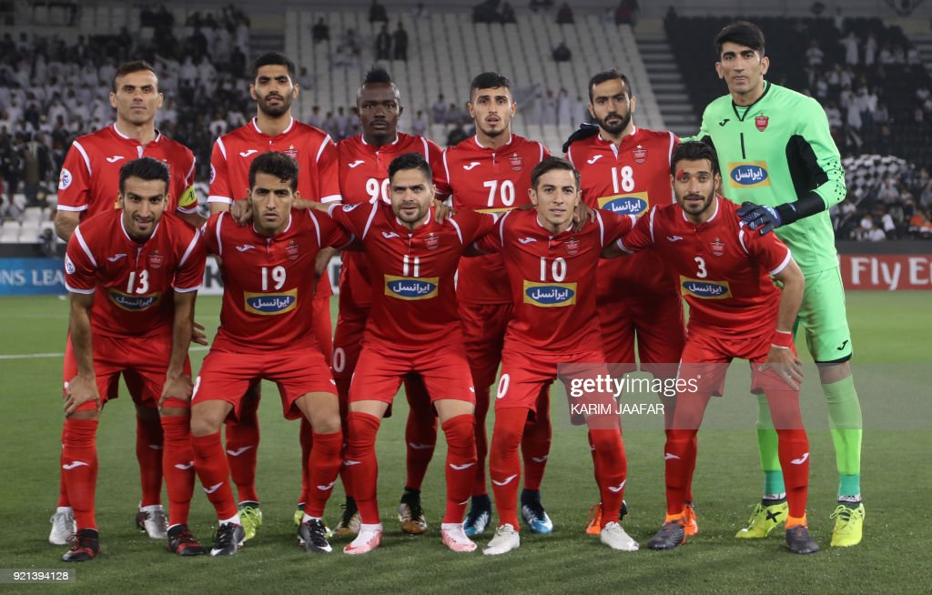 Players Of Iranian Team Persepolis Pose For A Group Picture Before News Photo Getty Images