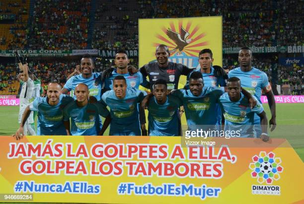 Players of Jaguares pose for a photo prior to a match between Atletico Nacional and Jaguares de Cordoba FC during match of the Aguila League I 2018...