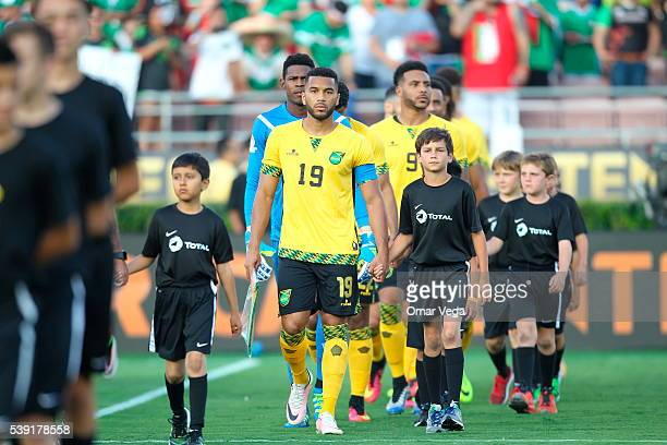 Players of Jamaica enter to the field during a group C match between Jamaica and Mexico at Rose Bowl as part of Copa America Centenario US 2016 on...