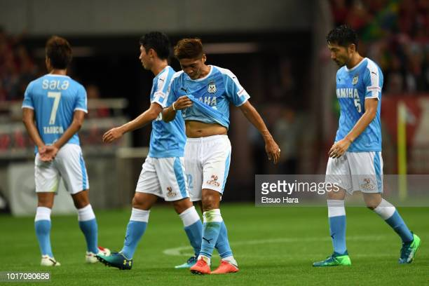 Players of Jubilo Iwata show dejection after the JLeague J1 match between Urawa Red Diamonds and Jubilo Iwata at Saitama Stadium on August 15 2018 in...