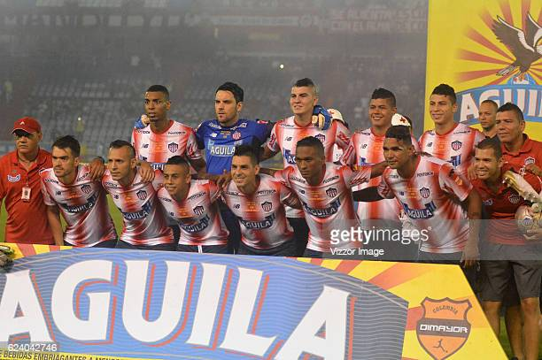 Players of Junior pose prior the Final match between Junior and Atletico Nacional as Part of the Copa Aguila 2016 at Metropolitano Roberto Melendez...