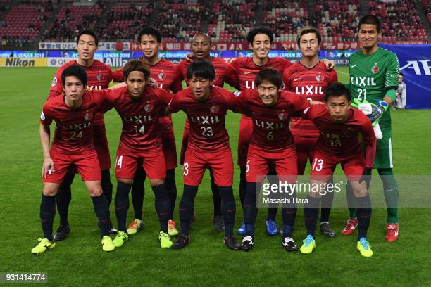 Players of Kashima Antlers pose for photograph prior to the AFC Champions League Group H match between Kashima Antlers and Sydney FC at Kashima...