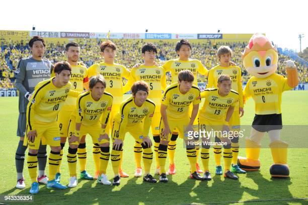 Players of Kashiwa Reysol pose for photograph the JLeague J1 match between Kashiwa Reysol and Sanfrecce Hiroshima at Sankyo Frontier Kashiwa Stadium...