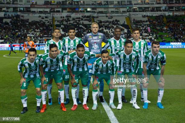 Players of Leon pose for a photo prior the 6th round match between Leon and Puebla as part of the Torneo Clausura 2018 Liga MX at Leon Stadium on...