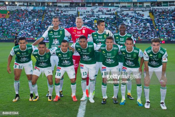 Players of Leon pose for a photo prior the 9th round match between Leon and Pachuca as part of the Torneo Apertura 2017 Liga MX at Leon Stadium on...