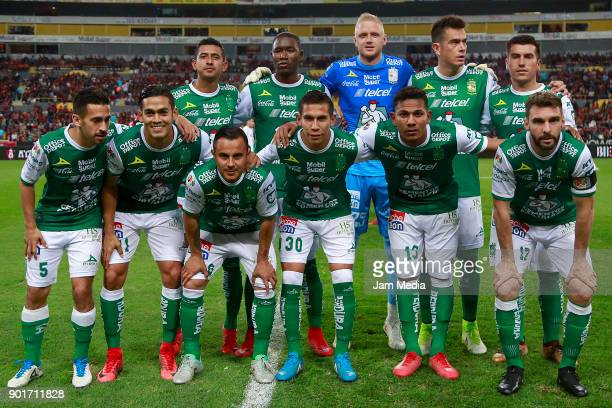 Players of Leon pose prior the first round match between Atlas and Leon as part of the Torneo Clausura 2018 Liga MX at Jalisco Stadium on January 05...
