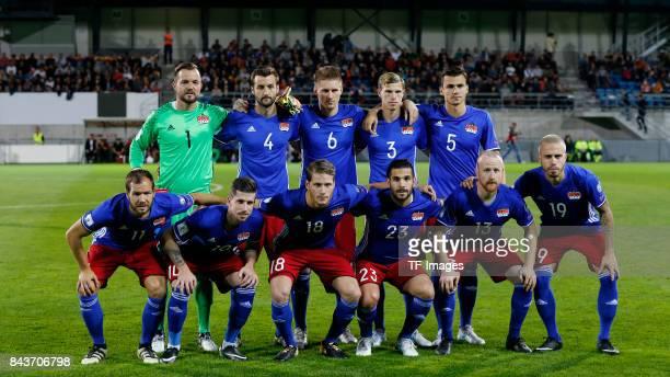 Players of Lichtenstein are seen during the FIFA 2018 World Cup Qualifier between Liechtenstein and Spain at Rheinpark Stadion on September 5 2017 in...