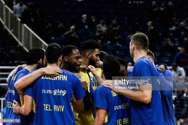 Players of Maccabi Fox Tel Aviv are seen during the Turkish Airlines Euroleague basketball match between Panathinaikos Superfoods Athens and Maccabi...