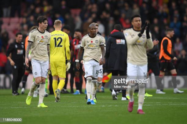 Players of Manchester United look dejected following the Premier League match between AFC Bournemouth and Manchester United at Vitality Stadium on...