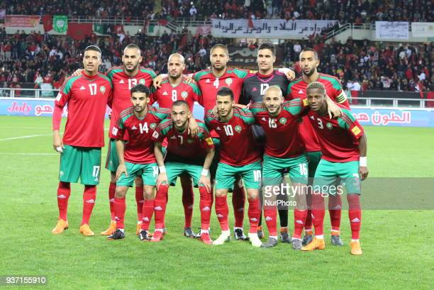 Players of Marocco before the international friendly football match between Marocco and Serbia at Olympic Grande Torino Stadium on 23 March 2018 in...