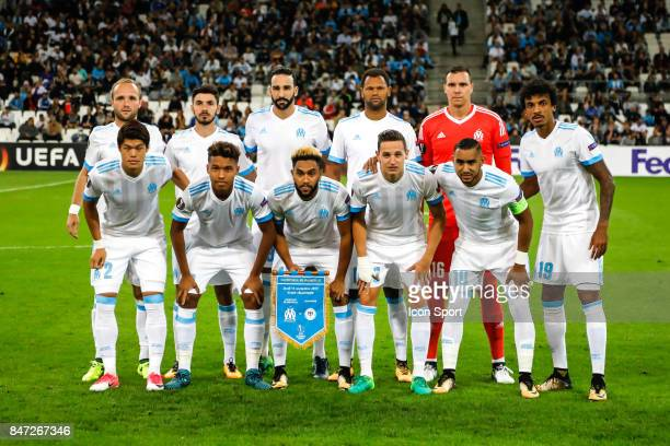 Players of Marseille during Europa League match between Olympique de Marseille and Konyaspor Kulubu at Stade Velodrome on September 14 2017 in...