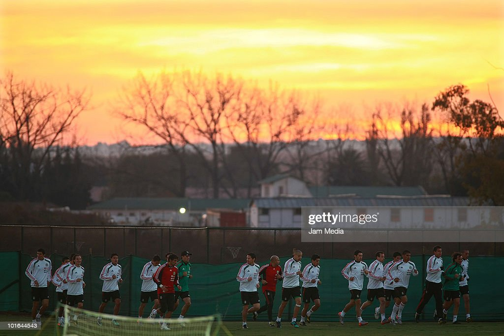 Players of Mexican National Team exercise during a training session at Waterstone College on June 5, 2010 in Johannesburg, South Africa.