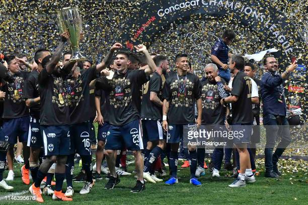 Players of Monterrey celebrate after winning the final second leg match between Monterrey and Tigres UANL as part of the CONCACAF Champions League...