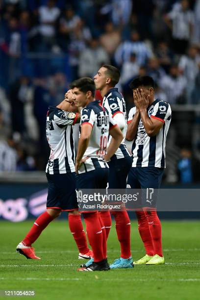 Players of Monterrey look dejected at the end of the 9th round match between Monterrey and Atletico San Luis as part of the Torneo Clausura 2020 Liga...
